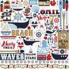 "Deep Blue Sea Cardstock Elements Stickers 12""X12"""