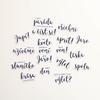 Jaro Papírové výseky – Slova