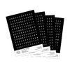 Papírové samolepky - ABC s diakritikou černá