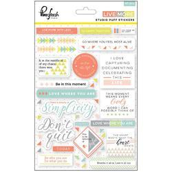 """Live More Puffy Stickers 5""""x7"""" - 1"""