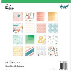 "Let Your Heart Decide Double-Sided Paper Pack 12""X12"" 16/Pkg"