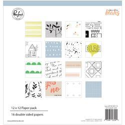 "Case Of The Blahs Double-Sided Paper Pack 12""X12"" 16/Pkg"