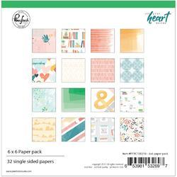 """Let Your Heart Decide Single-Sided Paper Pack 6""""X6"""" 32/Pkg"""