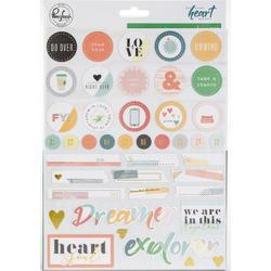 """Let Your Heart Decide Cardstock Stickers 6""""X8"""" - 1"""