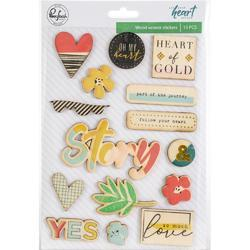 "Let Your Heart Decide Veneer Stickers 5""X7"""