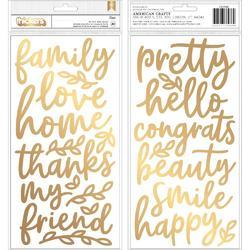 "Along The Way Thickers Gold Foiled Stickers 5.5""X11"" 2/Pkg"