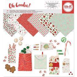 "Holiday Classics Glassine Paper Pack 12""X12"""