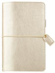 "Color Crush Faux Leather Travelers' Planner 5.75""X8"" Champagne - 1"