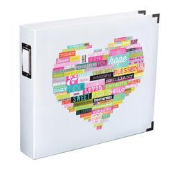 Printed White Heart Album