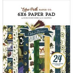"Adventure Awaits Double-Sided Paper Pad 6""X6"" 24/Pkg"