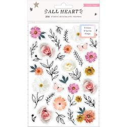 All Heart Sticker Book Clear W/Holographic Foil Accents 314/Pkg