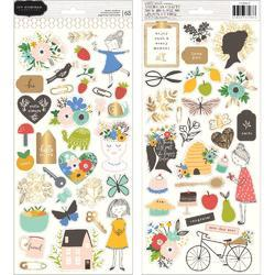 """Along The Way Cardstock Stickers 6""""X12"""" 63/Pkg"""
