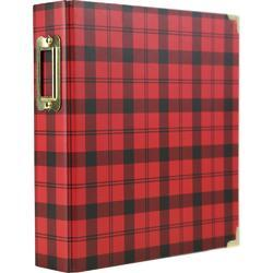 "Black & Red Check 2-Ring Album 6""x8"""