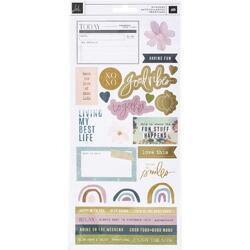 Care Free Cardstock Stickers 49/Pkg - 1