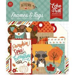 Celebrate Autumn Cardstock Frames & Tags Die-Cuts 33/Pkg - 1