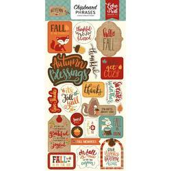 "Celebrate Autumn Chipboard Phrases 6""X13"""