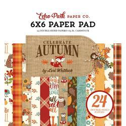 "Celebrate Autumn Double-Sided Paper Pad 6""X6"" 24/Pkg"