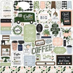 """Coffee & Friends Cardstock Element Stickers 12""""X12"""""""