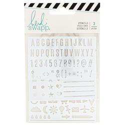 Color Fresh Memory Planner Stencils 3/Pkg - 1