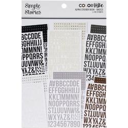 Color Vibe Basics Alpha Sticker Book 12/Sheets - 1
