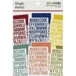 Color Vibe Bold Alpha Sticker Book 12/Sheets - 1