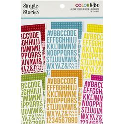 Color Vibe Brights Alpha Sticker Book 12/Sheets - 1
