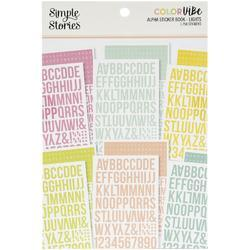 Color Vibe Lights Alpha Sticker Book 12/Sheets - 1