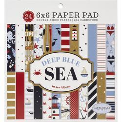 "Deep Blue Sea Double-Sided Paper Pad 6""X6"" 24/Pkg"