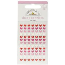 Sprinkles Adhesive Glossy Enamel Shapes Baby Hearts, 91/Pkg