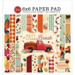 "Fall Break Double-Sided Paper Pad 6""X6"" 24/Pkg"