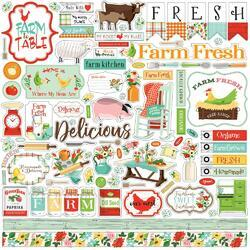 """Farm To Table Cardstock Element Stickers 12""""X12"""""""