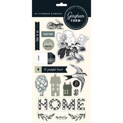 "Gingham Farm Chipboard Elements 6""X12"" 2/Pkg - 1"