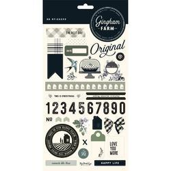 "Gingham Farm Stickers 6""X12"""