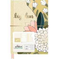 "Goldenrod 5.5""X8"" Die-cut Floral Journal - 1"