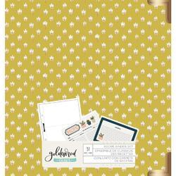"Goldenrod 6""X8"" Recipe Binder Set Yellow - 1"