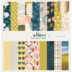 "Goldenrod Single-Sided Paper Pad 12""X12"" - 1"