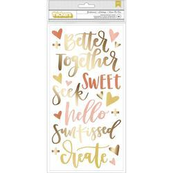 "Goldenrod Thickers Stickers 5.5""X11"" 61/Pkg - 1"
