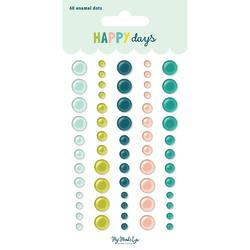 Happy Days Adhesive Enamel Dots 60/Pkg