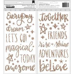 Head In The Clouds Glitter Thickers Stickers 5.5X11 76/Pkg