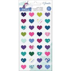 Head In The Clouds Mini Hearts Puffy Stickers