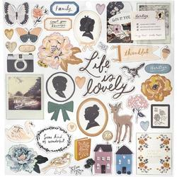 Heritage Chipboard Stickers 42/Pkg - 1