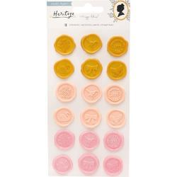 Heritage Plastic Puffy Stickers 18/Pkg - 1