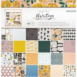 "Heritage Single-Sided Paper Pad 12""X12"" 48/Pkg - 1"