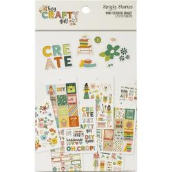 Hey, Crafty Girl Mini Sticker Tablet 375/Pkg - 1