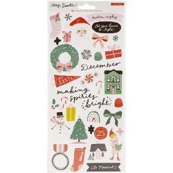 Hey Santa Cardstock Stickers 70/Pkg - 1