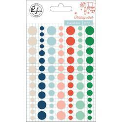 Holiday Vibes Enamel Stickers 84/Pkg
