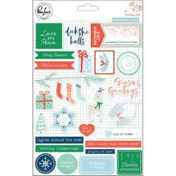 "Holiday Vibes Puffy Stickers 5""X7"" 25/Pkg"