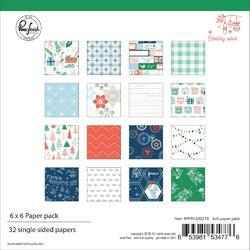 "Holiday Vibes Single-Sided Paper Pack 6""X6"" 32/Pkg"