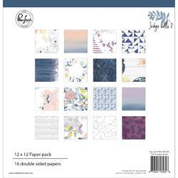 """Indigo Hills 2 Double-Sided Paper Pack 12""""X12"""" 16/Pkg"""