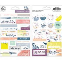 """Indigo Hills 2 Phrase Stickers 5""""X7"""" 44/Pkg"""
